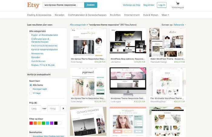 Blog lay-out veranderen